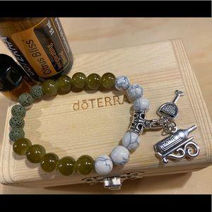 *Wine Lover* Artisan aromatherapy charm bracelet